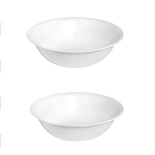 Corelle Livingware 2-Quart Serving Bowl Winter Frost White 2PK