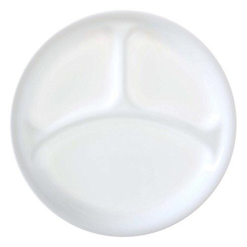 Corelle Winter Frost White 26cm Divided Dinner Plate Pack of 6