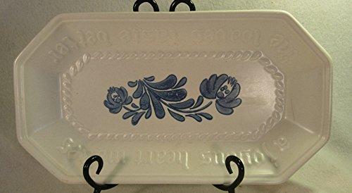 Pfaltzgraff Stoneware - Yorktown White Blue - Bread Serving Tray Plate