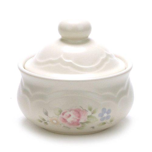 Tea Rose by Pfaltzgraff Stoneware Sugar Bowl