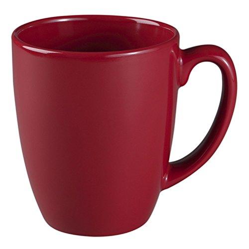 Corelle Livingware 11-Oz Red Stoneware Mug Set of 8