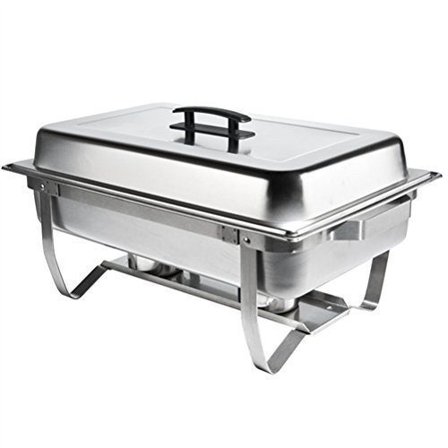 Atosa AT751L63-1 Foldable Full Size Chafing Dish with Stainless steel pan and Li
