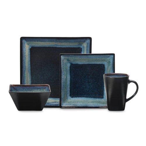 Oneida Adriatic 16pc Dinnerware Set Blue