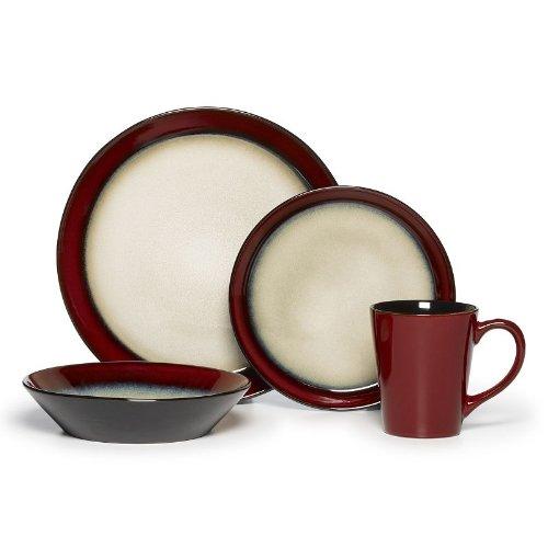Pfaltzgraff Everyday Aria Red 16-pc Dinnerware Set