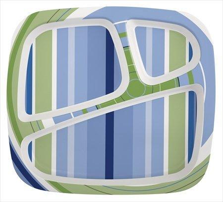 Zak Design Hampton 6569-0010 3-Section Plate Pack Of 6