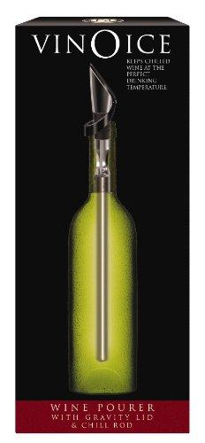 Cork Pops VinOice In Bottle Wine Chiller And Pourer Silver