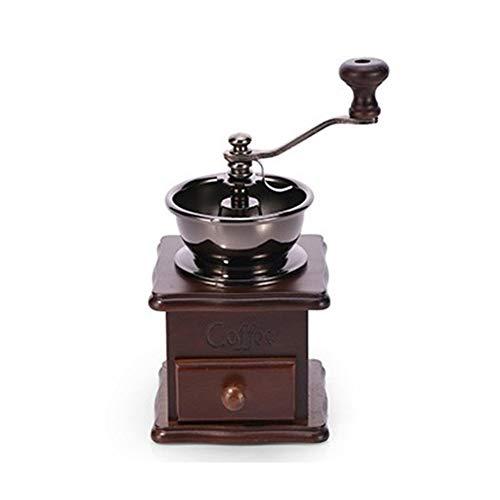 NOLOGO Yg-ct Manual Coffee Grinder Hand Coffee Beans Grinding Machine Hand Coffee Burr MillManual Bean Grinder Color  Dark Brown
