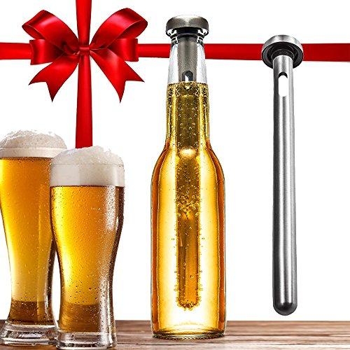 Dernord Beer Chiller Keeps Beer Cold Longer Chill Brew Beer Chillers Stainless Steel Bottle Wine Beverage Cooler Cooling Sticks (Pack of 2)