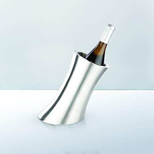 Harrison Convex Stainless Steel Insulated Wine Bottle Chiller by Viski