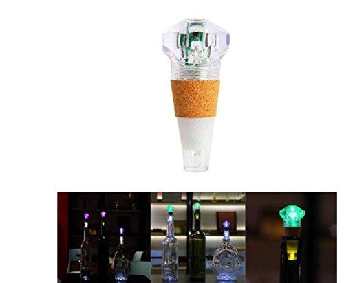 1W Colorful LED Diamond Shape Wine Bottle Cap Cork Light USB Rechargeable Home Party Decor by ShopIdea