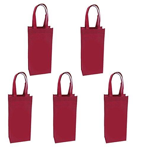 Non-Woven 10 Pcs Reusable Bottle Wine Tote Bag Wine Gift Bag Holder Wine Carier Bag double bottle