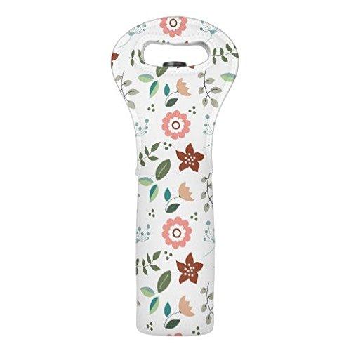 Yilooom Floral Pattern Wine Bottle Tote Bag