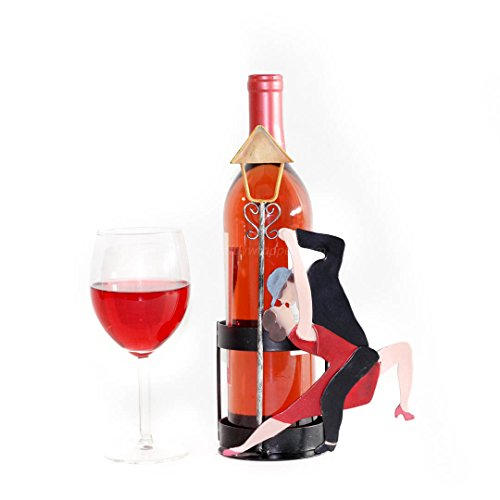 Giftly Wrapped Highest Quality Handmade Gift Highest Quality Couple Dancing Tango Handmade Metal Wine Bottle Caddy