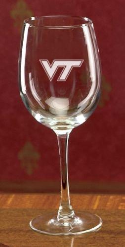Virginia Tech Hokies Deep Etched Red Wine Glass