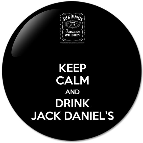 KEEP CALM AND Drink JACK DANIELS 58mm Bottle Opener Round Button Badges With Refrigerator Magnet NEW