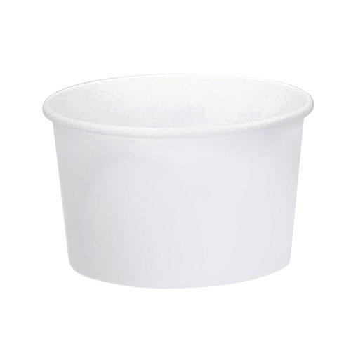 Solo VS508-2050 8 oz White Vs SSP Paper Food Container Case of 1000