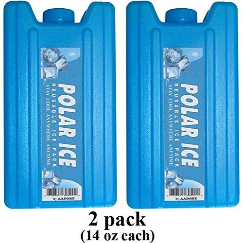 POLAR ICE SECRET FLASK - 2pk - 2 x 14oz Capacity Reusable Container Food grade Material By AADORE