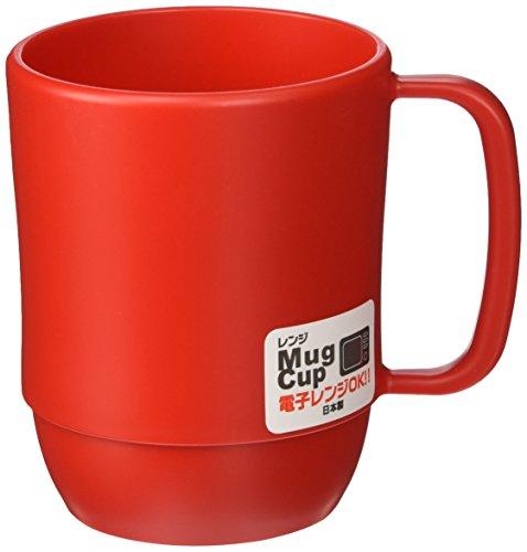JapanBargain S-3091 Japanese Plastic Microwavable Water Mug 12 oz Red