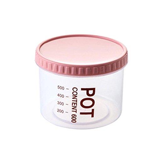 Ecosin Cereals Receive Tank Fridge Freezer Space Saver Organization Storage Rack Shelf Kitchen Box Hotc Pink