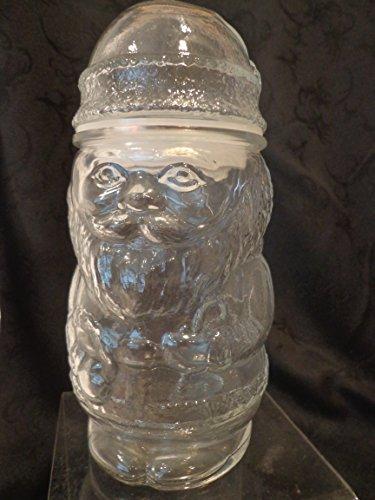 Glass Santa Claus Shaped Candy Jar Santa Candy Jar Santa Jar Christmas Candy Jar