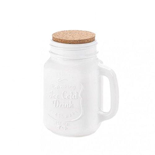 Mason Jars With Lid Cork Lid White Mason Jar Kitchen Decor Storage - Glass