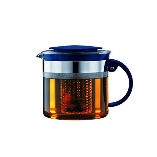Bodum 1875-981B-Y18 Bistro Nouveau Tea Pot 34 Oz Sea
