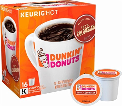 Dunkin Donuts 100 Colombian Coffee Keurig K-Cup Pods 64 Count
