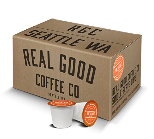 Real Good Coffee Co Recyclable K Cups Breakfast Blend Light Roast For Keurig K-Cup Brewers 72 Single Serve Coffee Pods