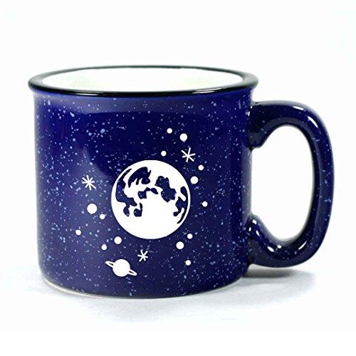 FULL MOON STARS Camp Coffee Mug - NAVY BLUE