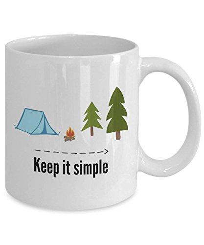 Keep It Simple Camp Coffee Mug Adventure Coffee Mug Gift for Grandpa Coffee Mug For Dad Camping Mug Campers Life 11oz 15oz gift