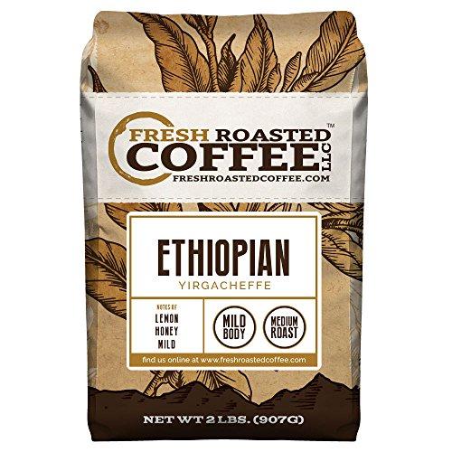 Ethiopian Yirgacheffe Coffee Whole Bean Fresh Roasted Coffee LLC 2 lb