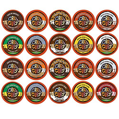 Crazy Cups Flavored Decaf Coffee Single Serve Cups For Keurig K Cup Brewer Variety Pack Sampler 20 Count Decaf Sampler