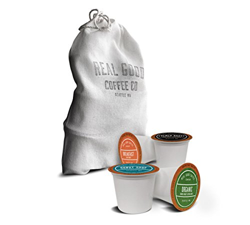 Real Good Coffee Co Recyclable K Cups Variety Pack For Keurig K-Cup Brewers 10 Single Serve Coffee Pods