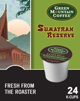 Green Mountain Coffee Fair Trade Organic Sumatran Reserve Extra Bold K-Cup 96 count