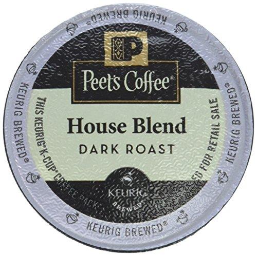 Peets Coffee K-Cup Pack House Blend  Dark Roast 10ct