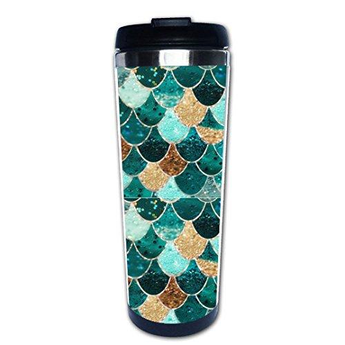 BLINY Coffee Mug Mermaid Pattern Coffee Travel Mug cup Tumbler 350ml Tea Mug