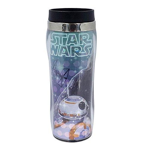 Disney Star Wars BB-8 Rey Chewbacca Thermals Tumbler Hot Cold Travel Mug Cup with Lid 16oz BPA FREE