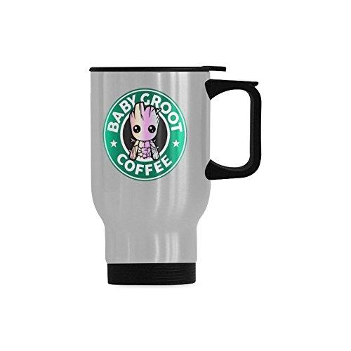 Funny Coffee Mug Baby Groot Coffee Tea Travel Mug Sliver Cup 14 Ounces Fun Mugs Funny Gift