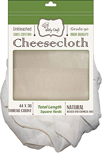 Cheesecloth 36 Sq Ft Food Grade 90 Highest Quality 100% Unbleached Cotton