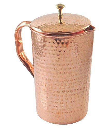 Om Creation Pure copper pitcher- Copper Jug- Copper water pitcher-Copper waterCopper Water pitcher  Copper pitcher Copper water jug for health benefits Hammered
