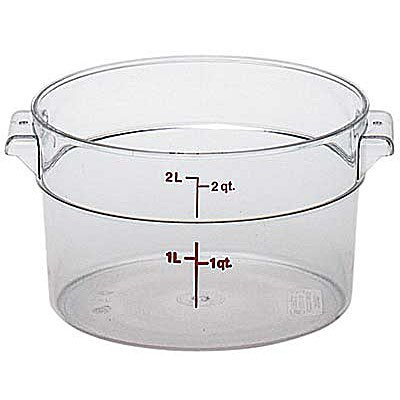Cambro RFSCW2135 Camwear Round Food Storage Container 2 Quart Clear