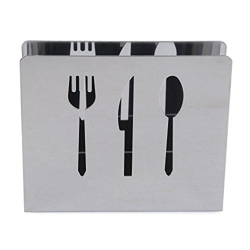 Stainless Steel Napkin Holder Dispenser for Kitchen Restaurant Cutlery