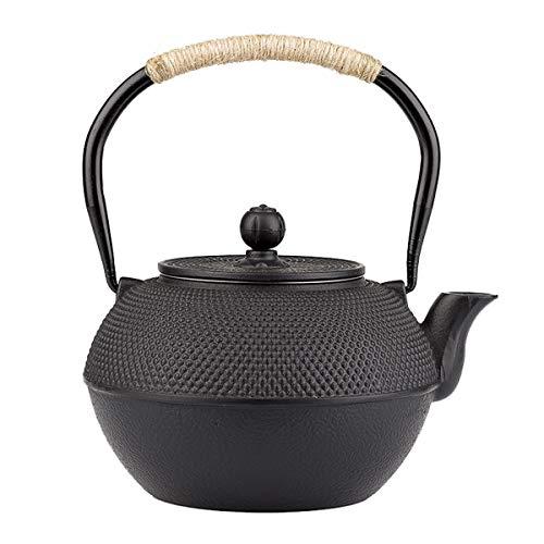 tetsubin Cast iron tea pot workshop Healthy japanese hobnail pattern tea kettle with Stainless Steel Infuser (40 oz)【353 lb】