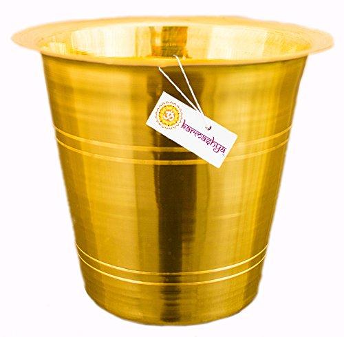 KARMASHYA 45gms Brass Ayurvedic Thirtha Cup Mug Theertha Lota Pancha Patra Tea Cups Pot