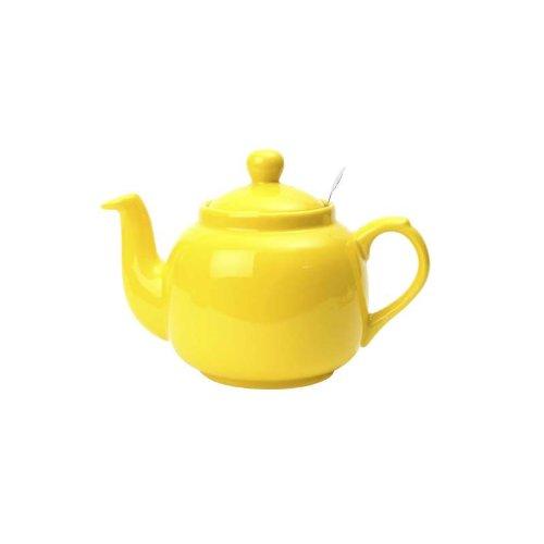 Globe London Pottery 4 Cup Yellow Filter Teapot 17273222