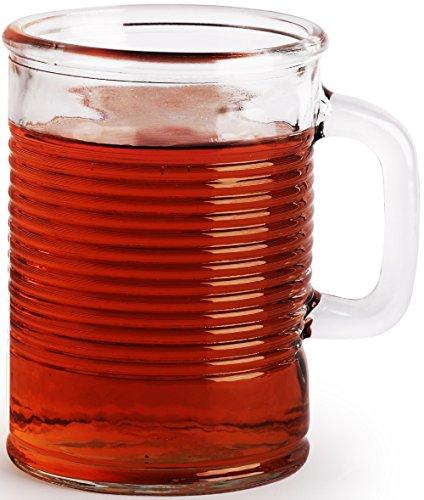 Canned Clear Mug Set 4 17 Oz With Handle