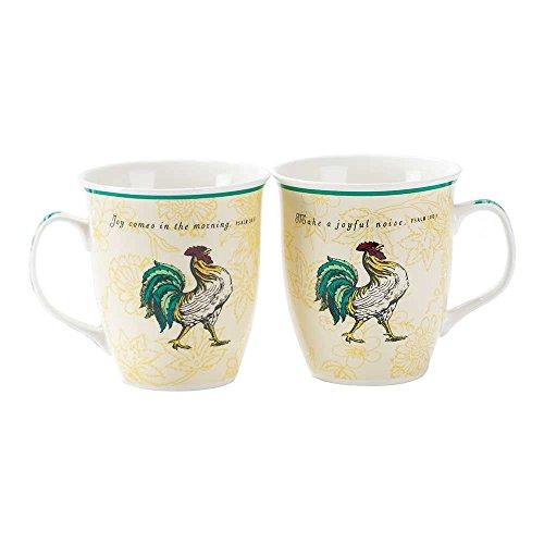 Make Joyful Noise Rooster Psalm 1001 16 Oz New Bone China Coffee Cup Mug