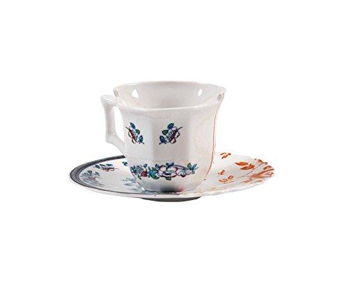 Seletti Fine Bone China Coffee Cup with Saucer Leonia