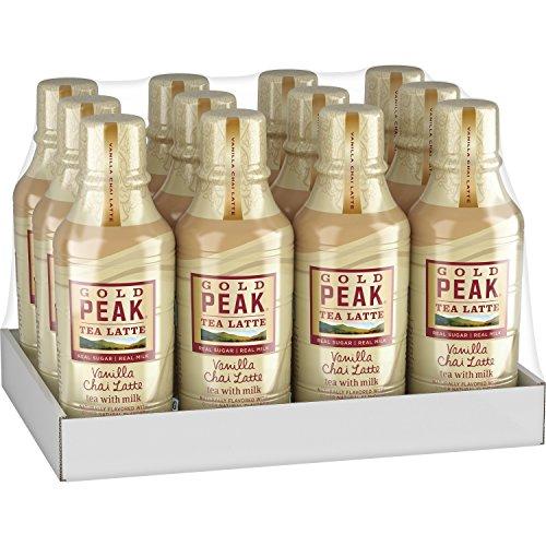 Gold Peak Chai Tea Latte Vanilla 14 Fluid Ounce Pack of 12