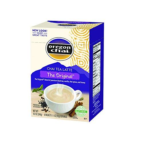 Oregon Chai Original Chai Tea Latte Powdered Mix 8-Count Envelopes 11 oz 31g  Pack of 6